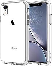JETech Hoesje voor iPhone XR 6,1 Inch, Schokabsorptie Transparant Bumper Case, Anti Krasvrije Achterkant, HD Crystal Clear