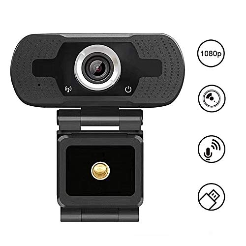 Lankerx Full 1080p HD Webcam con micrófono USB Web Cam Plug