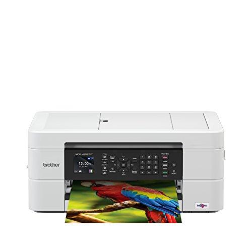 Brother MFC-J497DW - Equipo multifunción de Tinta con fax (A4, Wi-Fi, impresión dúplex), Color Blanco