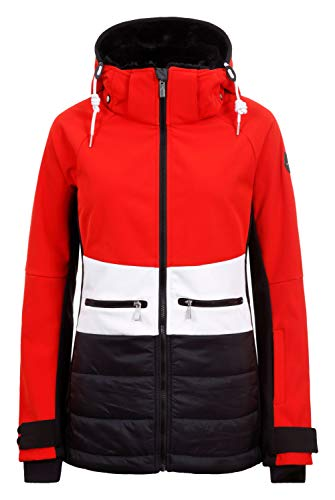 Icepeak ELY - Damen Skijacke/Softshell-Jacke in rot - schwarz, Gr. 48