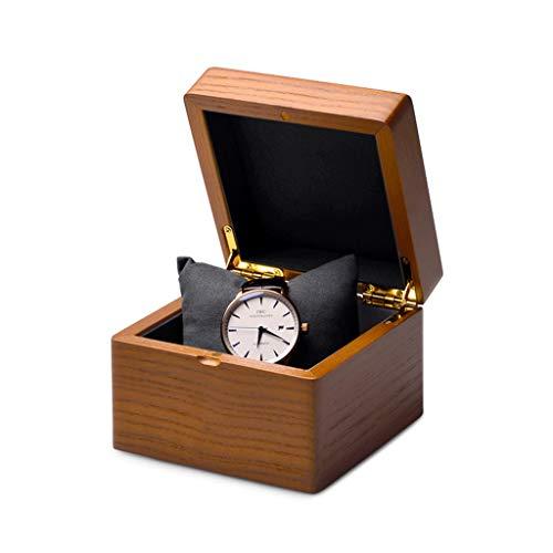 Caja De Reloj De Madera Maciza De Alta Gama, Caja De Joyería Pequeña Portátil, para Hombres Y Cumpleaños De Mujeres, Regalos del Día De San Valentín (Color : Dark Gray)