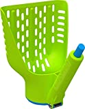 Duke-N-Boots Large Cat Litter Scoop, Patented Scoop and Release Design, Easy Clean Plastic Kitty Litter Scoop (Green/Blue)