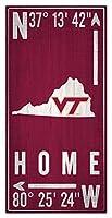 Fan Creations NCAA バージニアテックホーキーズ ユニセックス バージニア工科大学 コーディネートサイン チームカラー 6 x 12インチ