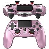 JOYSKY Mando Inalámbrico para,Controlador De Juegos Inalámbrico con Control De Vibración Dual del Motor De Doble Palanca para (Oro rosado)