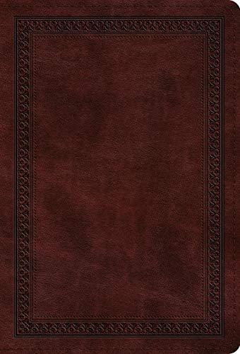 ESV Large Print Compact Bible (TruTone, Mahogany, Border Design)