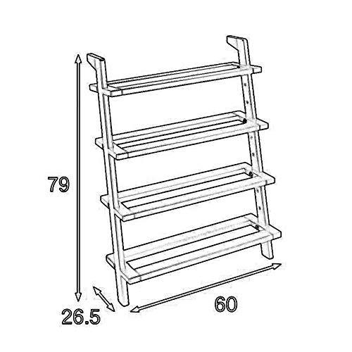 L-WSWS Estantes domésticos, Sala Umbral de almacenamiento en rack de 4 Tier Zapatos Organizador rack, madera deflector Estante de almacenamiento, a prueba de polvo de suelo de zapatos Stand, 60 × 26,5