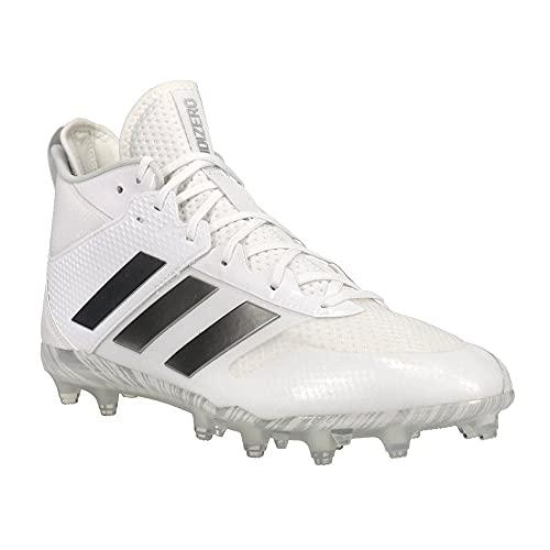 adidas Unisex Adizero Lacrosse Cleats Shoe, White/Silver Metallic/Silver Metallic, 13 US Men
