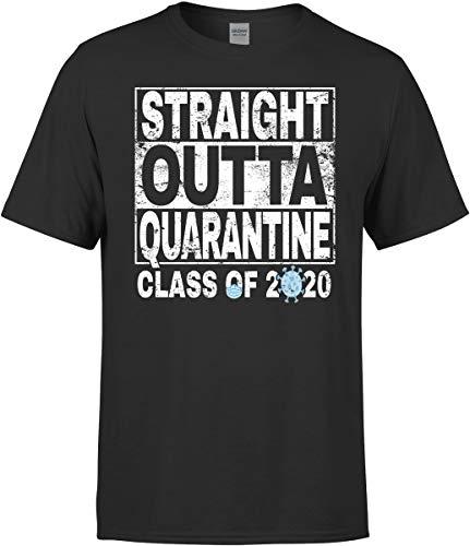 MazaaMode Class of 2020 Shirt - Straight Outta Quarantine T-Shirt Gift Black