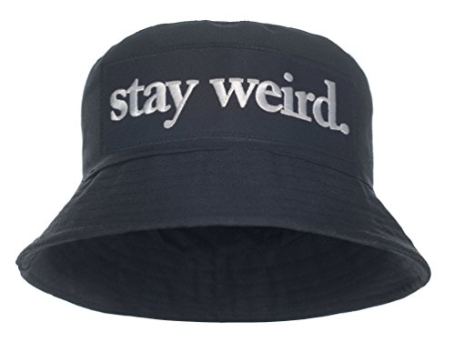 Damen Mädchen Parental Advisory Bucket Hat Bush Cap Sommer Urlaub schwarz Party Gr. One Size, Schwarz - Stay Weird