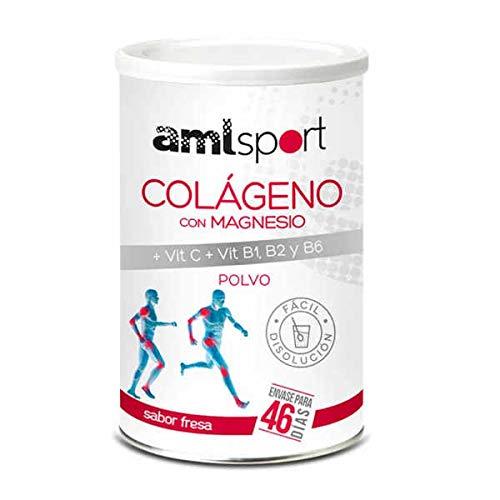 Amlsport Colageno con Magnesio + Vit. C, B1,B2 y B6 (sabor fresa) - 350 gr Fresa
