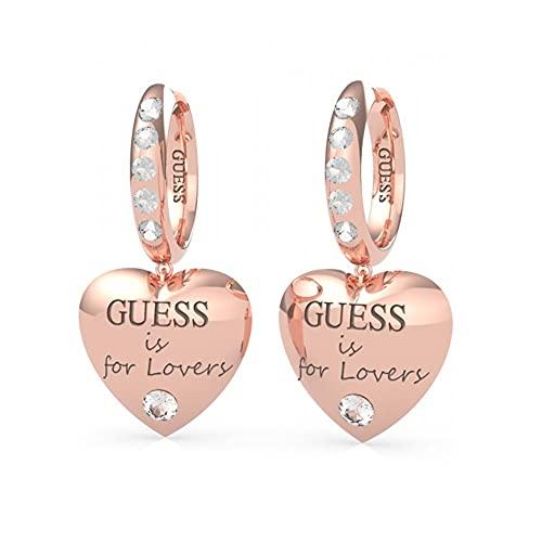 "Pendientes corazón Guess Jewellery ""Guess is for lovers"" con Swarovski UBE70112 (Rosado)"