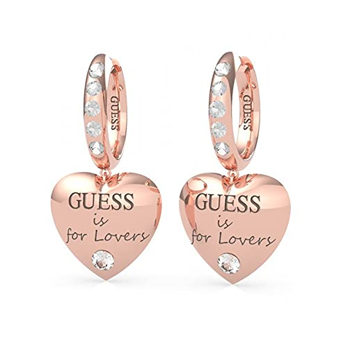 "Pendientes corazón Guess Jewellery ""Guess is for lovers' con Swarovski UBE70112 (Rosado)"