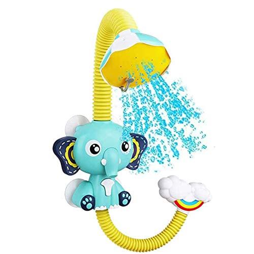 U-A Juguetes de baño para bebés, Elefante eléctrico, Ventosa de Animales, Ducha eléctrica, Cabezal de Lluvia, niños, Juego de Tiempo de baño, Juguete