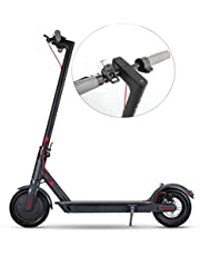 Aluminum Alloy Electric Scooter Adult Electric Folding Bike Powerful With LED-Waterproof Digital Display, 25KM/H, 36V/30KM Kick Scooters,Electronic Brake + Physical Brake 11'' E-Scooter,Black