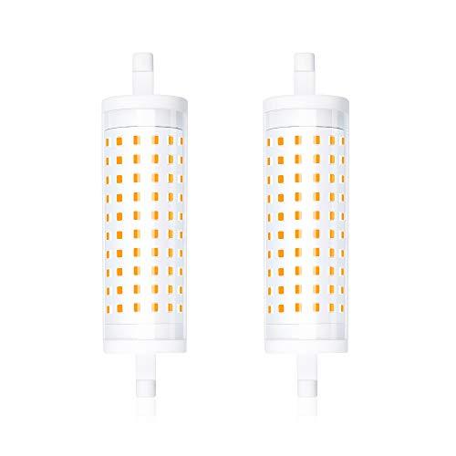 Bonlux R7s LED Lampe 15W 118MM Dimmbar Stablampe 220V 1500Lumen J118 Linear Licht Warmweiß 3000K 360° Abstrahlwinkel zweiseitige Sockel Leuchtmittel Entspricht zu 150-200W Halogenlampe(2-Stück)