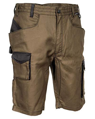 Cofra V563-0-03.Z64 LIEGI Shorts, 64% Baumwolle, 34% Polyester, 2% Elasthan, 250G Schlamm/Schwarz, Größe 64