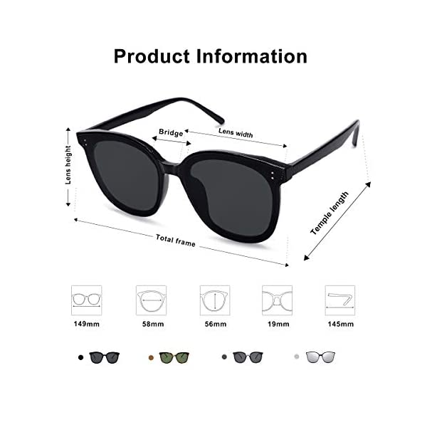 SOJOS Trendy Square Sunglasses Women – Oversized Fashion Cute Shades for Women AMIGO SJ2135