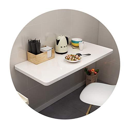 Mesa Plegable Pared Casa Escritorio Pared Laptop En La Pared Encimera Plegable Buen Pesaje Ahorra Espacio Impermeable Usado para Casa Dormitorio Cuarto (Color : White, Size : 90x40cm)