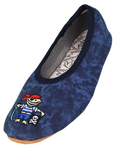 Beck Jungen Pirat Gymnastikschuhe, Blau (dunkelblau), 31 EU