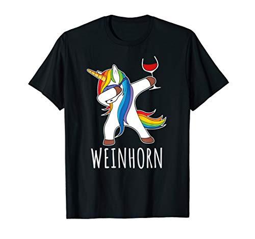 Dabbing Einhorn Wein TShirt Weinglas Rotwein Weinhorn Shirt T-Shirt