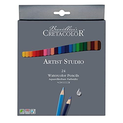Cretacolor Artist Studio Watercolor Pencil Set, 24-Colors