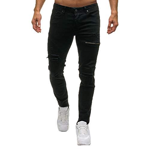 Jeans Pantalon Homme Slim WINJIN Jean Déchiré Trou Jeans Slim Pantalon De Sport Jogging Cargo Pantalon de Travail Homme Joggers Homme Pantalons Danse Pants Jogger Homme Jean Droit Homme