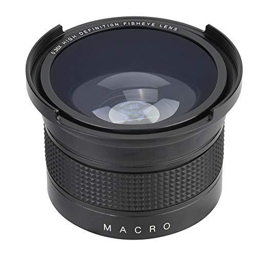 Obiettivo fisheye grandangolare 52mm 0,35X con custodia per obiettivo Custodia universale per Canon Nikon Sony Minolta Pansonic Olympus Fotocamere reflex digitali Pentax