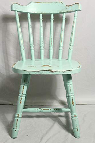 Shabby Stuhl alter Sprossenstuhl/Holzstuhl/Küchenstuhl mint grün 60er Jahre Landhaus Vintage Shabby Chic Möbel