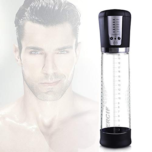 Male Handheld Pump, ERCIF Mens Universal Massager Men Muscle Pump for The Body,Back,Neck,Shoulder,Enhancement & Relieve Stress Tool with LED Panel Screen