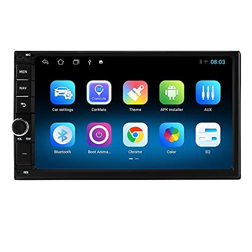 Autoradio Android 10 Radio Bluetooth Comandi al Volante 7 Pollici Touch Screen 1080P GPS Navi Mirror Link USB Wifi 4G DAB Retrocamera Ingresso