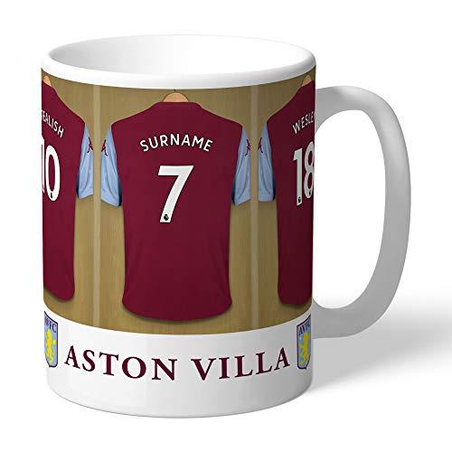 Official Aston Villa Dressing Room Mug - Add any name
