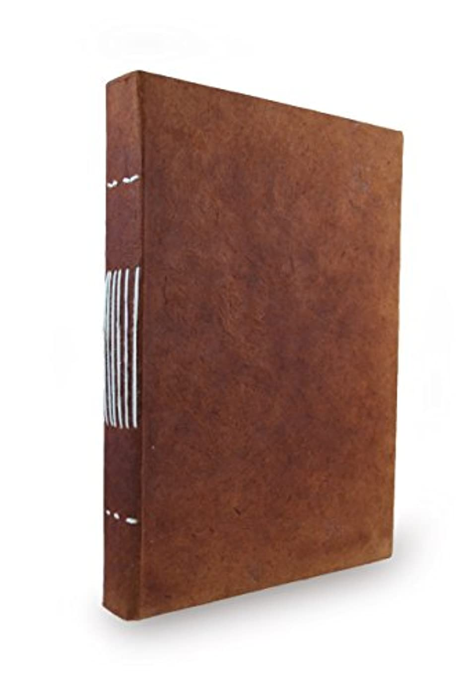 Nepali Keeper Journal with Handmade Lokta Paper. Made in Nepal. (6x9 Inches, Terra Cotta)