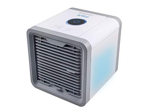 Beper P206RAF200 - Mini Refrigerador de Mesa Humidificador, Aire Acondicionado Personal Portátil, Cable USB, 3 Velocidades, 7 Luces de Cromoterapia LED, Table Air Cooler