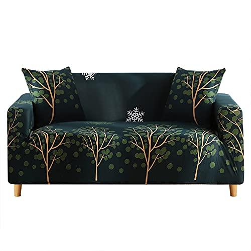 WXQY Juego de sofás de Esquina en Forma de L, Funda de sofá Antideslizante para Sala de Estar elástica, Funda de sofá con cojín antiincrustante Todo Incluido A6 2 plazas