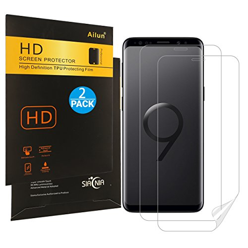 Ailun Screen Protector Compatible with Galaxy S9 2 Pack Invisible TPU Film Compatible with Galaxy S9 Anti Scratch Bubble Free Case Friendly
