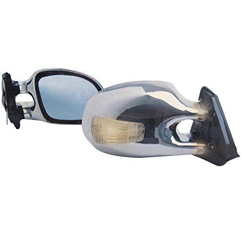 1 Paar Design Sportspiegel CHROM Universal, Sport Spiegel SET mit Blinker, universell anpassbar (nicht Fahrzeugspezifisch)