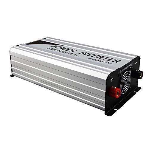 Inversor de onda sinusoidal pura 1500 W (potencia máxima 3000 W), 12 V / 24 a 110 V / 220 V, inversor de corriente con pantalla LED, adecuado para viajes, camping, conexión a red de energía solar /