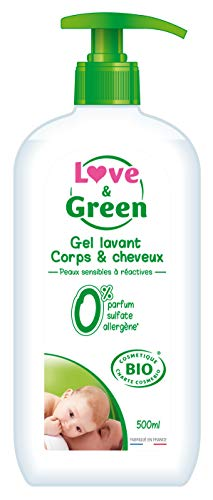 Love & Green Gel Lavant Corps/Cheveux Bio 0% 500 ml