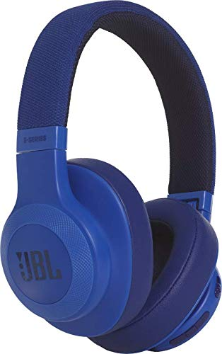 JBL E55BT - Auriculares Bluetooth Circumaurales Inalámbricos plegables con cable y control remoto universal, batería de hasta 20 h, azul