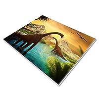 Dinosaur Rug Animal Childrens Play Area Rug,Non Slip Floor Mat for Living Room Bedroom, 160*230cm