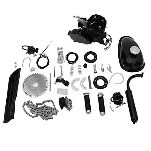 Kuhxz 80cc Bicycle Engine Kit Bicycle Motor Kits Motor Kit for Bike Bike Motor Bike Engine Kit Motorized Bike Kit 80cc 2 Stroke Bike Kit Engine Kit Bicycle Gas Bicycle Motorized Bike Motor Kit