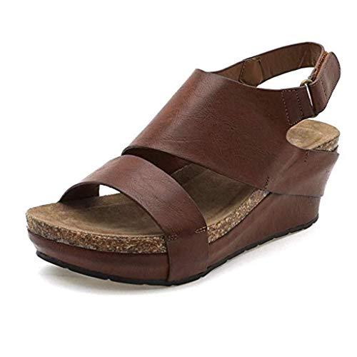 TWIFER Sandalias Mujeres Moda Zapatillas De Mujer con Plataforma Grande Sandalias Bohemia Casuales Zapatos De Playa Sandalias Romanas Chanclas De Damas Cuñas De Mujer Verano 2019
