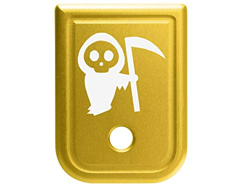 Magazine Base Plate for Glock 9mm .357 .40 .45GAP Gold NDZ - Grim Reaper Baby
