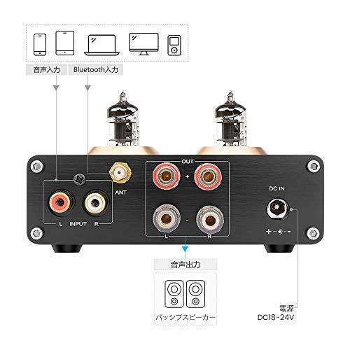 AIYIMAT2PROBluetooth5.0パワーアンプTPA3116100W*26J1真空管オーディオデジタルパワーアンプAPTXをサポートホームサウンドシアター用(黒)