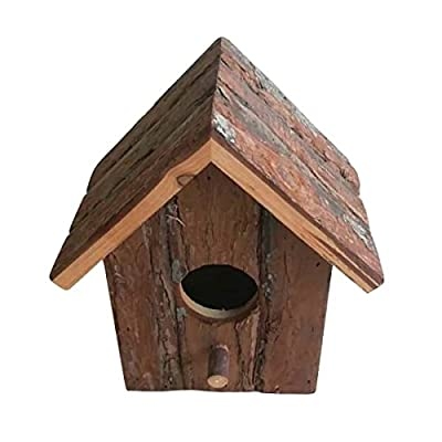 Heritage 20833 Rustic Round Wooden Nesting Nest Box Bird House Small Birds Blue Tit Robin Sparrow by Heritage Pet Products