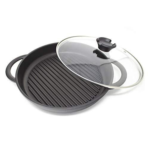 Jean-Patrique The Whatever Pan - Aluminiumguss Griddle Pan mit Glasdeckel