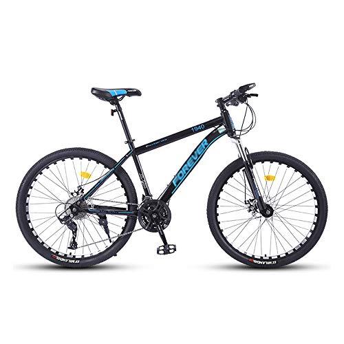 Bicicleta,Bicicleta de montaña de 26', icicleta todo terreno con 27 velocidades,con asiento ajustable y cuadro de acero con alto contenido de carbono,para adultos,Antideslizante, Freno de doble