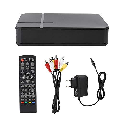 ASHATA Box TV Digitale Mini HD 1080P con Telecomando, Ricevitore terrestre WiFi DVB-T2 K2, conformità con DVB-T/T2 e H.264, MPEG-4, Supporto per interfaccia 3D e Timer di spegnimento(Nero)