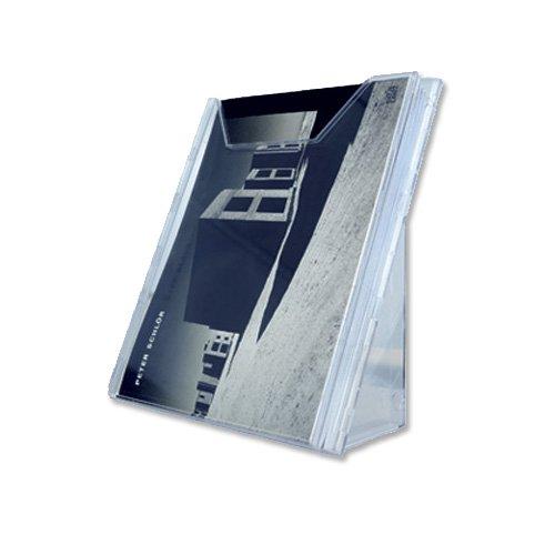 Durable 857819 Dispensador de folletos Combiboxx A4, 1 compartimento, para aplicación de mesa y pared, transparente