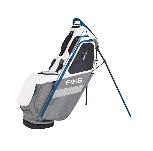 PING 2018 Hoofer 14 Stand Golf Bag (White/Heather Grey/Ocean)